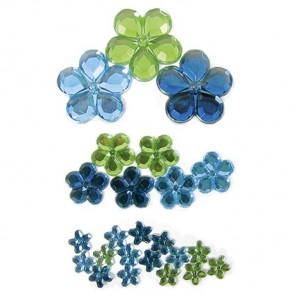 Цветы сине-зеленые 207 Стразы набор Decopatch