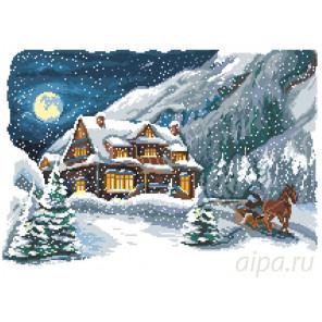 Морозный вечер Набор для вышивания Матренин посад