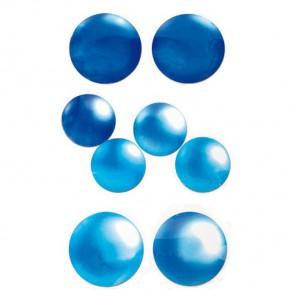 Круглые голубые 216 Стразы набор Decopatch