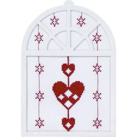 Сердца Набор для вышивания Permin 61-4293