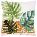 В рамке Ботанические листья Набор для вышивания подушки Vervaco PN-0165496