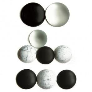 Круглые черно-белые 223 Стразы набор Decopatch