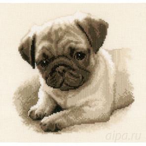 Собака Мопс Набор для вышивания Vervaco PN-0169650