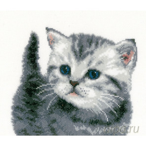 Серый котёнок Набор для вышивания Vervaco