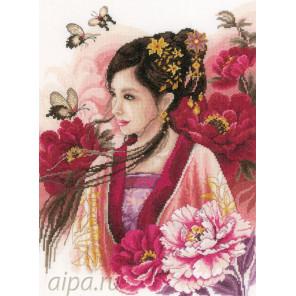 Asian lady in pink Набор для вышивания LanArte PN-0170199