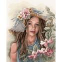 Little girl with hat Набор для вышивания LanArte PN-0169325