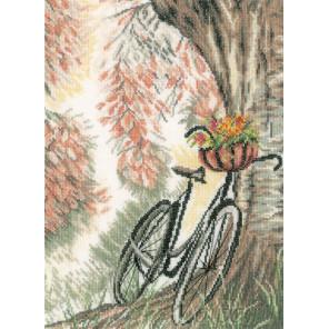 Bike & flower basket Набор для вышивания LanArte PN-0171414
