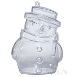 Снеговик 10 см Фигурка разъемная из пластика для декорирования
