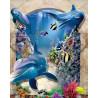 Мир в глубине Раскраска картина по номерам 3D на холсте 3D016