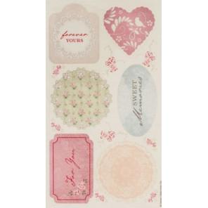 Vintage Notes Набор тканевых декоративных элементов для скрапбукинга, кардмейкинга Docrafts