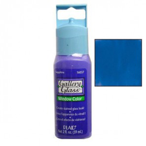 Синий Сапфир 16037 Витражная краска Gallery Glass