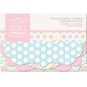 Spots & Stripes Pastels Набор декоративных элементов для скрапбукинга, кардмейкинга Docrafts