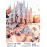 Количество цветов и сложность В Милане Раскраска картина по номерам на холсте ZX 21193