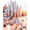 В Милане Раскраска картина по номерам на холсте ZX 21193