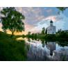 Церковь покрова на нерли Раскраска картина по номерам на холсте ZX 21271