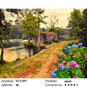 Цветущие аллеи Раскраска картина по номерам на холсте ZX 21207
