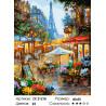 Количество цветов и сложность Вечерний дождь в Париже Раскраска картина по номерам на холсте ZX 21218