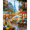 Вечерний дождь в Париже Раскраска картина по номерам на холсте ZX 21218
