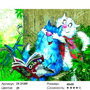 Забавные коты Раскраска картина по номерам на холсте ZX 21359