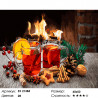Количество цветов и сложность Новогодний глинтвейн Раскраска картина по номерам на холсте ZX 21384