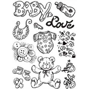Baby Набор силиконовых штампов для скрапбукинга, кардмейкинга Stamperia