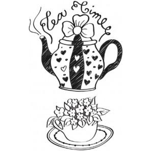 Чаепитие Набор силиконовых штампов для скрапбукинга, кардмейкинга Stamperia