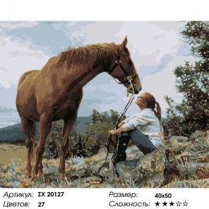 Обожаю лошадей Раскраска картина по номерам на холсте ZX 20127