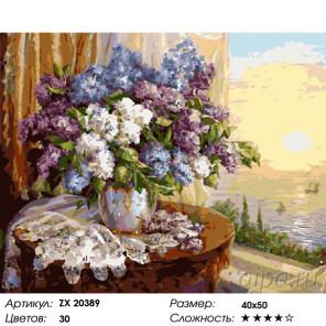 Количество цветов и сложность Сирень в доме на побережье Раскраска картина по номерам на холсте ZX 20389