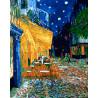 Ночное кафе (Ван Гог) Раскраска картина по номерам на холсте ZX 20886