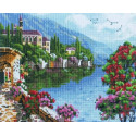 Прибрежный городок Алмазная мозаика на подрамнике Painting Diamond