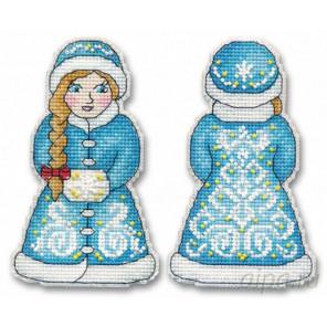 Снегурочка Набор для вышивания ёлочной игрушки Овен 1145