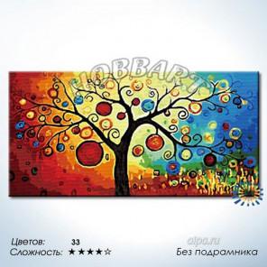 Древо богатства Раскраска по номерам на холсте Hobbart DH60120013-Lite