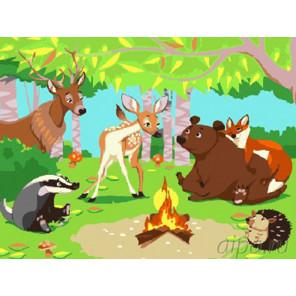 Жители леса Раскраска картина по номерам на холсте EX6227