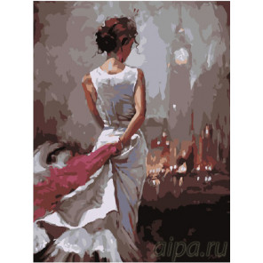 Лондонские ночи Раскраска картина по номерам на холсте EX5994