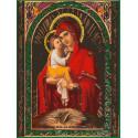 Почаевская икона Божией Матери Раскраска картина по номерам на холсте EX5824
