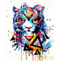 Магический тигр Раскраска картина по номерам на холсте