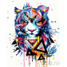 Магический тигр Раскраска картина по номерам на холсте GX23555