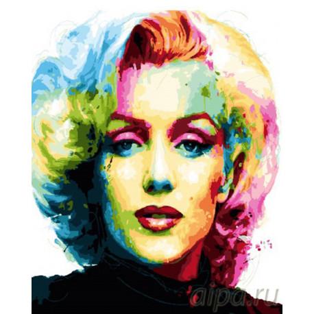 Портрет Мэрилин Монро Раскраска картина по номерам на холсте GX26621