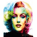 Портрет Мэрилин Монро Раскраска картина по номерам на холсте