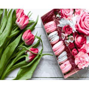 Букет из тюльпанов Раскраска картина по номерам на холсте GX26619