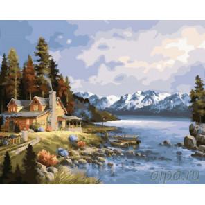 На берегу безмятежности Раскраска картина по номерам на холсте GX23306