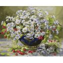 Белые ромашки Раскраска картина по номерам на холсте GX25329
