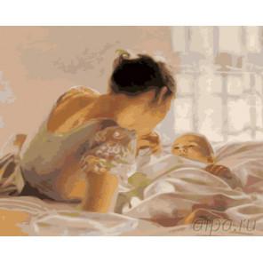 Молодая мамочка Раскраска картина по номерам на холсте GX25114
