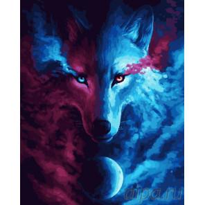 Лунный волк Раскраска картина по номерам на холсте GX24578