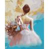Балерина на отдыхе Раскраска картина по номерам на холсте