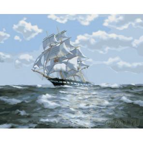 Белые паруса в черном море Раскраска картина по номерам на холсте GX26051