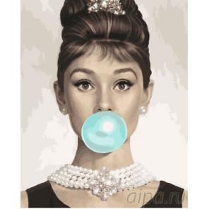 Милашка Одри Хепберн Раскраска картина по номерам на холсте GX26712
