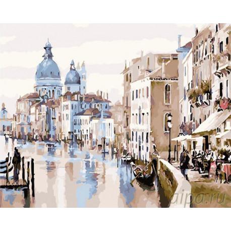 Прогулкка в Венеции Раскраска картина по номерам на холсте GX26927