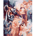 Вместе с тигром Раскраска картина по номерам на холсте