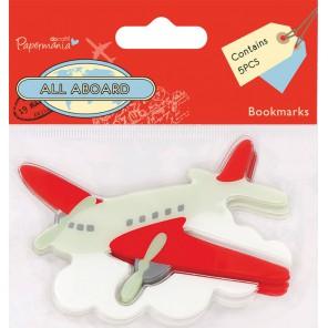 Самолет All Aboard Набор клеевых закладок для смэшбука Docrafts
